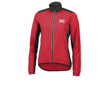 ROSE PRO FIBRE women's cycling jacket red/black