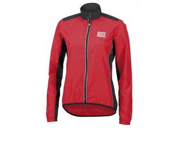 ROSE PRO FIBRE Damen Rad Jacke red/black