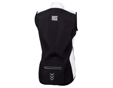 ROSE PRO FIBRE women's wind vest black/white