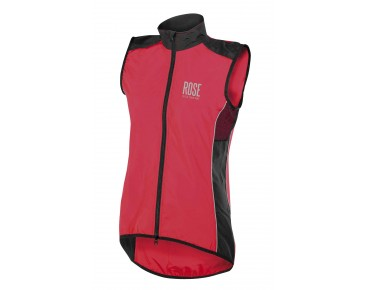 ROSE PRO FIBRE women's wind vest red/black
