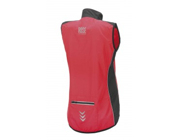 ROSE PRO FIBRE women's windproof vest red/black