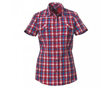 Jack Wolfskin women's blouse FARO hibiscus red checks