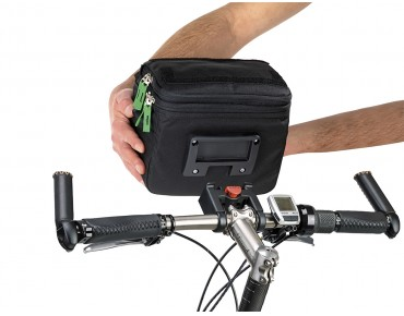 VAUDE ROAD I handlebar bag black/meadow
