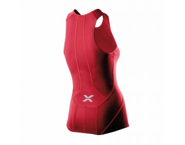 2XU COMPO women's tri top red light/blazing red