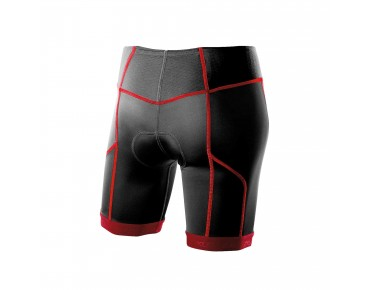 2XU 2 CXUOMP women's tri shorts black/red light
