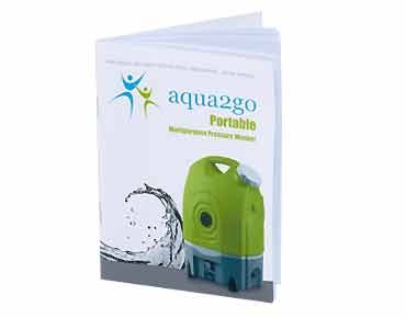 aqua2go battery-powered pressure cleaner green