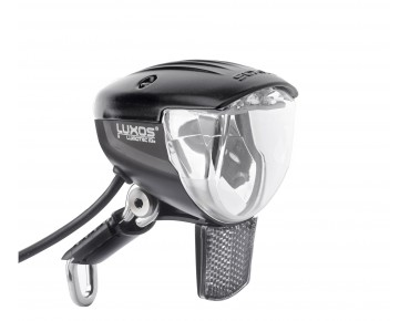 B + M Lumotec IQ2 Luxos U senso plus headlight with USB connection black