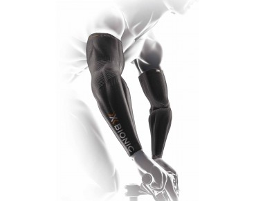 X BIONIC LIGHT NO SEAM arm warmers black/anthracite