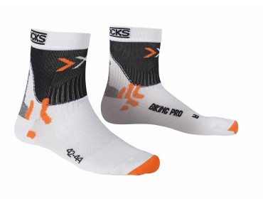 X SOCKS BIKING PRO LIGHT socks white/black