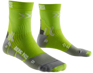 X SOCKS BIKING PRO LIGHT socks green lime/pearl grey