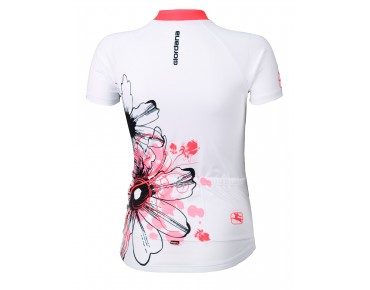 Giordana Damen Trikot TRADE FLOWER white/fluo orange