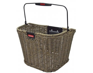 KLICKfix STRUCTURA RETRO front bicycle basket olive-brown
