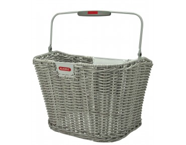 KLICKfix STRUCTURA RETRO front bicycle basket stone grey