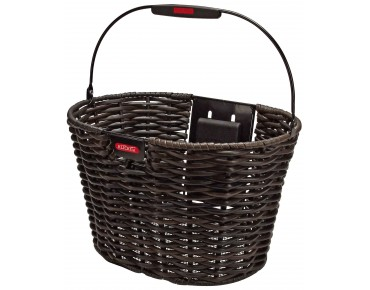 KLICKfix STRUCTURA OVAL front bicycle basket black-brown