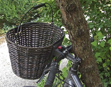 KLICKfix STRUCTURA OVAL front bicycle basket schwarzbraun
