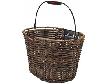 KLICKfix STRUCTURA OVAL front bicycle basket brown