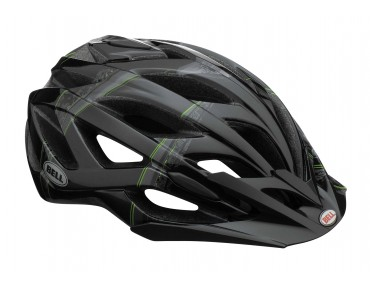BELL SEQUENCE MTB-Helm black/titanium/green scattered