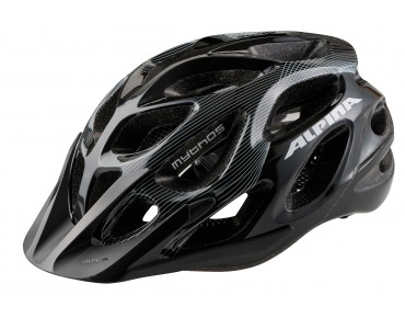 ALPINA MYTHOS MTB-Helm black/white lines