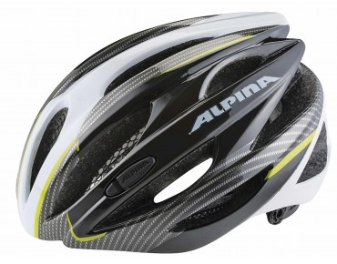 ALPINA CYBRIC Rennradhelm black/lime/carbon
