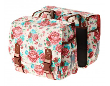 BASIL BLOOM DOUBLE BAG double pannier for women gardenia white
