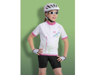 ROSE GIRLS Kinder Trikot white/pink Dragonfly