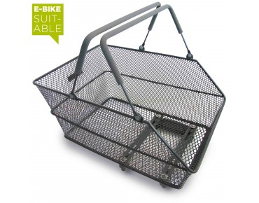 BASIL CENTO BASSOLID rear bicycle basket titanium