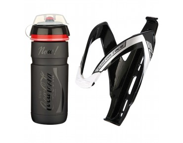 Elite Supercorsa Coca-Cola 750 ml drinks bottle + Custom Race bottle cage black
