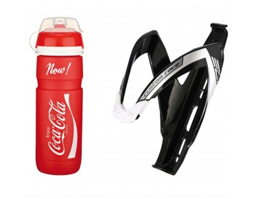 Elite Supercorsa Coca-Cola 750 ml drinks bottle + Custom Race bottle cage red