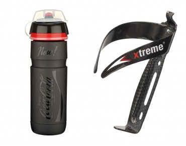 ROSE Elite Supercorsa Coca-Cola drinks bottle 750 ml  + Xtreme CA 66 bottle cage black