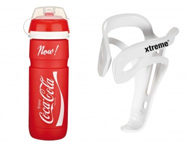 ROSE Elite Supercorsa Coca-Cola 750 ml drinks bottle + Xtreme Comp FH4 bottle cage rot