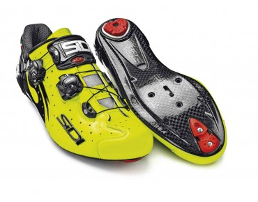 SIDI WIRE CARBON VERNICE Rennradschuhe yellow fluo/black