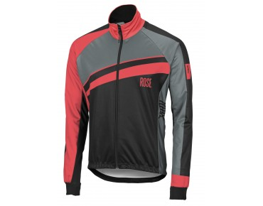ROSE PRO II WINDTEX-Thermo Rad Jacke black/red/grey