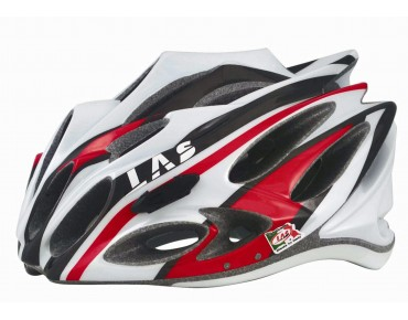 LAS SQUALO LIGHT Rennradhelm white/black/red