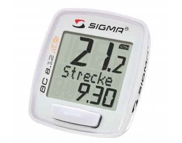Sigma BC 8.12 ATS wireless bike computer white