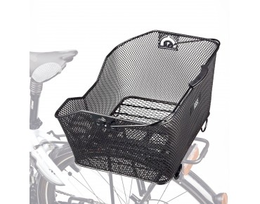 ROSE easy2fix carrier rear bicycle basket black