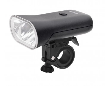 Philips SafeRide 80 LED Bike Light battery front light black