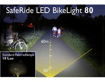 Philips SafeRide 80 LED Bike Light Batterie-Frontscheinwerfer weiß