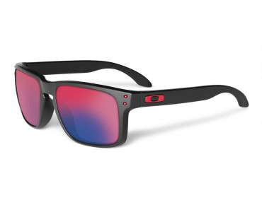 OAKLEY HOLBROOK sports glasses matte black/+red irid.