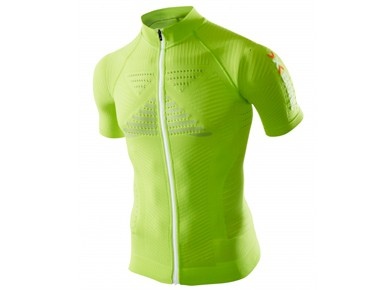 X BIONIC EFFEKTOR TURTLE NECK FZ Trikot green lime/pearl grey