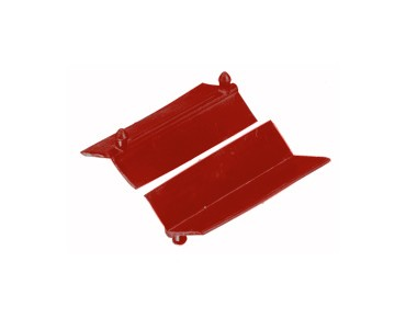 Xtreme replacement rubbers for holding clamp (1 pair) red