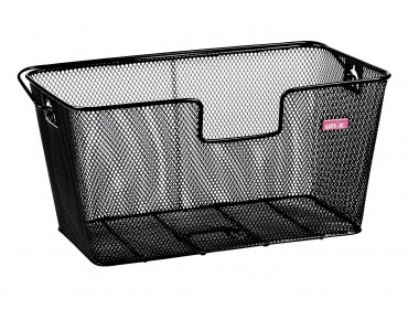 ACACIO rear bicycle basket schwarz