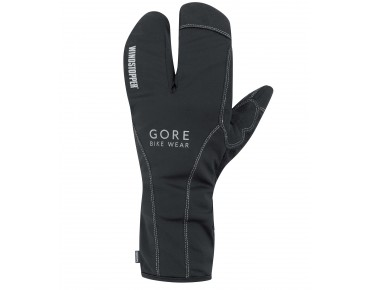 GORE BIKE WEAR ROAD THERMO LOBSTER WINDSTOPPER gloves black