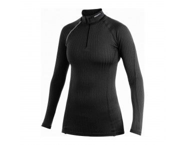 CRAFT ACTIVE EXTREME women's long-sleeved base layer (zip turtleneck) black/platinum