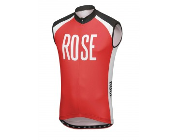 ROSE LINIE 14 Trikot ärmellos black/red