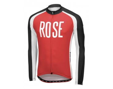 ROSE LINIE 14 Langarmtrikot black/red