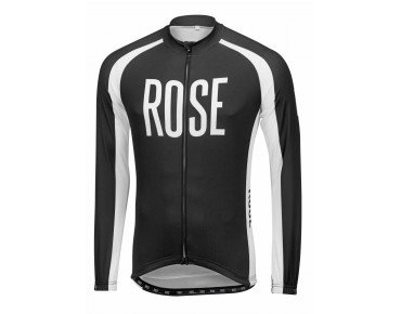 ROSE LINIE 14 Langarmtrikot black/white