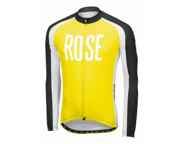 ROSE LINIE 14 Langarmtrikot black/lime