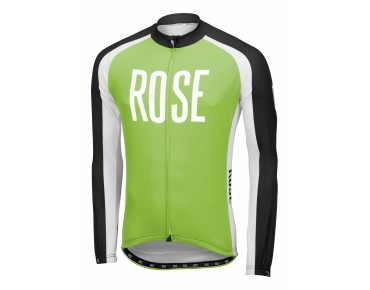 ROSE LINIE 14 Langarmtrikot black/green