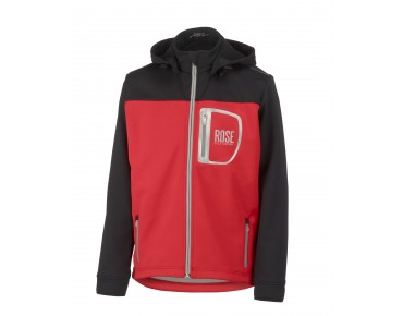 ROSE ERIK veste Softshell pour enfants black/red