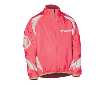 ENDURA LUMINITE kids' waterproof jacket neon pink
